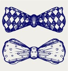 Bow-tie vector image vector image