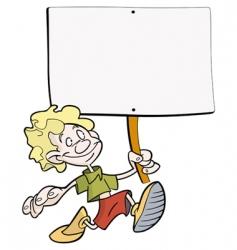 boy placard vector image vector image