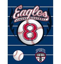 Eagle league baseball vector