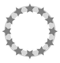 European union symbol in grey tones vector