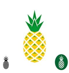 Pineapple logo Geometric sharp corners style logo vector image vector image