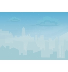 Rain storm and fog in the city Cityscape vector image