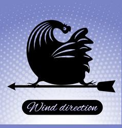 rooster weathervane rooster weathervane 5 vector image