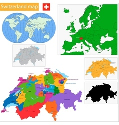 Switzerland map vector image