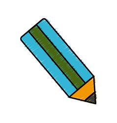 wooden pencil color vector image