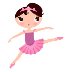Beautiful cute ballerina in nice dress vector image