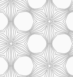 Gray dotted six pedal flower grid vector image vector image
