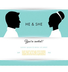 He She vector image vector image