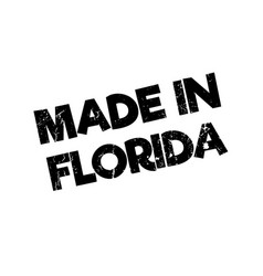 made in florida rubber stamp vector image