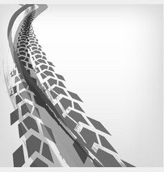 motorcycle tire tracks vector image