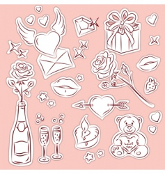 valentine design elements 1 vector image vector image