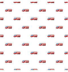 fire truck pattern vector image