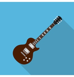 flat guitar 2 vector image vector image