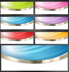 Premium Web Banners Set vector image