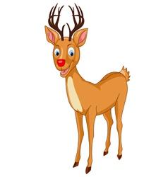 Santa rudolph reindeer vector