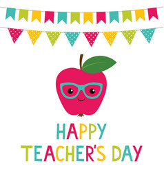 teachers day card vector image vector image