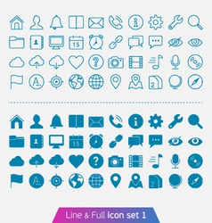 Universal Basic set 1 vector image vector image