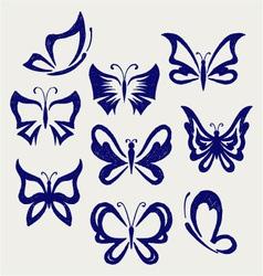 Various butterflies vector image