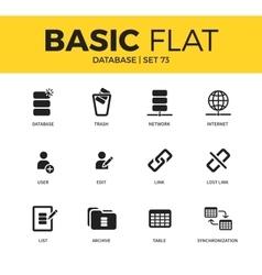 Basic set of database icons vector
