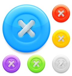 Clothing buttons vector image