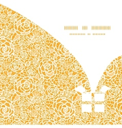 golden lace roses Christmas gift box silhouette vector image vector image
