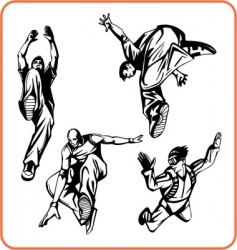 jump vector image vector image