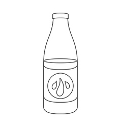 Lotion icon in outline style isolated on white vector image vector image