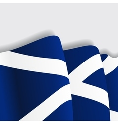 Scottish waving Flag vector image vector image