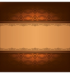 Vintage background with decorative ornament vector image