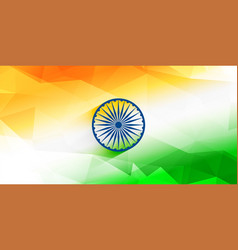 Abstract indian flag background design vector