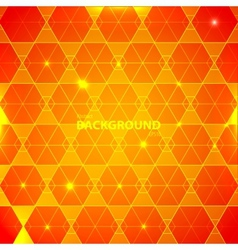 Abstract orange geometric background vector image