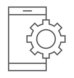 App settings thin line icon technology vector