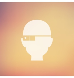 Bald man in flat style icon vector