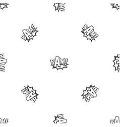 Bam comic book bubble pattern seamless black vector