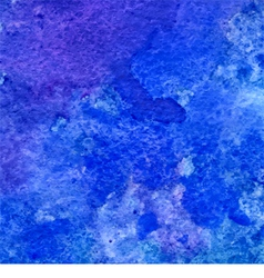 Blue and ultramarine grunge watercolor background vector