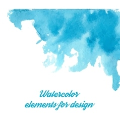 Blue watercolor background for textures and vector image