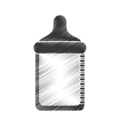 bottle milk baby isolated icon vector image