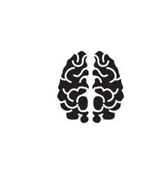 brain logo template and symbols icons app vector image