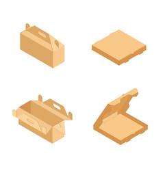 brown pizza box vector image