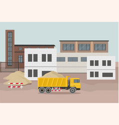 Building factory industry zone vector