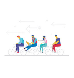 business team - flat design style colorful vector image