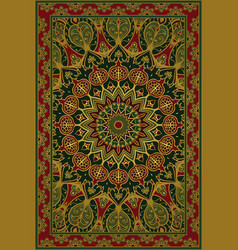 Carpet with pomegranate vector