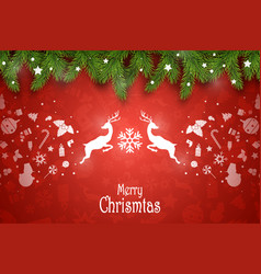 christmas composition holiday wishes on vector image