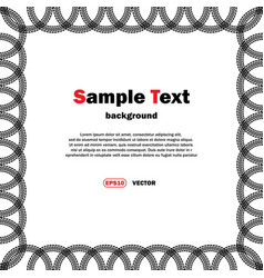 Circle tire tracks frame with text vector