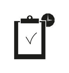 clip board work hours icons vector image