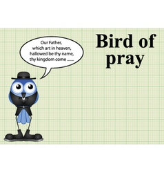 Comical bird of pray vicar vector