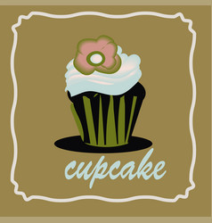 Cupcake icon on the white background for your vector