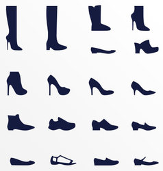 Different types of womens shoes vector image