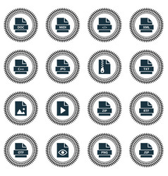document icons set collection of midi document vector image