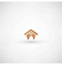 Dog house sign vector
